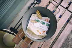Little advertisements, Koumorigashi (Eric Flexyourhead) Tags: ukyo ukyoku 右京区 kyoto 京都市 kansai 関西地方 japan 日本 shop store bakery パン屋さん koumorigashi こうもり菓子 advertisements handbills flyers namecards sonyalphaa7 zeisssonnartfe35mmf28za zeiss 35mmf28