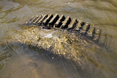 Submerged Obstacle (95wombat) Tags: old abandoned rotted decayed derelict sunken rusty newyork kingston