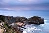 Atardecer en Playa Rocosa (FotografInstante - D.Salvador) Tags: 2470 clouds d750 filter filtro mar montaña nd nikkor nikon nubes oceans paisaje playa rocas sea solorzano stones vacaciones landscape