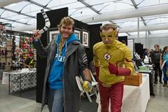Captain Boomerang and Kid Flash (Sconderson Cosplay) Tags: oz comic con 2016 wally west cosplay kid flash captain boomerang