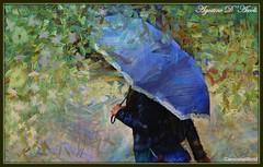 Ombrello azzurro - Febbraio-2018 (agostinodascoli) Tags: impressionismo nikon nikkor colore fullcolor photoshop photopainting art digitalart digitalpainting texture ombrello donna