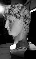 P2020185fddtt (photos-by-sherm) Tags: michelangelo bust david replica cameron art museum wilmington nc pancoe center winter spotlight floodlights kissing