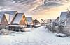 (#3.400) Winter am Morgen (unicorn 81) Tags: hdr 18200mm dorf winter februar schnee strasse häuser sandesneben