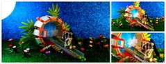 LEGO - Alien Stargate . (peter-ray) Tags: lego peter ray alien mini figure moc brick star gate fantasy diorama samsung shi fi space nx2000 aliens visitors extraterrestre ufo martian planet