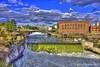 "Spokane Falls & the Avista Power Plant (jimgspokane) Tags: spokaneriver spokanewashingtonstate spokanefalls rivers waterfalls ""nikonflickraward"""