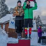 Ksenija Kaludjercic and Lukas Forssander 2018 Enquist Slalom Champions PHOTO CREDIT: Hans Forssander
