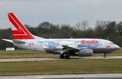 Lauda 737-500 (Martyn Cartledge / www.aspphotography.net) Tags: 737500 air aircraft airplane airport aspphotography aviation boeing cartledge flight fly flying lauda martyn oelnm plane runway transport wwwaspphotographynet asp photography flywinglets