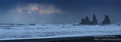 Rough seas at Reynifsjara Beach (Moments like these ...) Tags: 2018 iceland reynifsjarabeach reynisdrangar seastacks day7