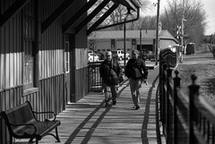 Checking out the Station (Alex Luyckx) Tags: unionville ontario canada urban downtown historicdowntown historic markham people portrait random street streetphotography photographers spontanious casual tfsm tfs torontofilmshooters torontofilmshootersmeetup meetup gathering social