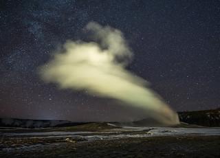 Yellowstone Park at Night
