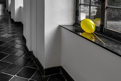Lonely (aj.lindeboom) Tags: abstract blackandwhite yellow lonely