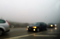 driving on the slipping road (*F~) Tags: portugal serradaestrela road slipping mist misty ice heights dangerous pavement atmosphere blur movement chaos