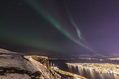 Tromsø by night (Role Bigler) Tags: tromsø view auroraborealis nordlicht norge norway norwegen city cityscape sigma art 14mm 18 fjiellheise storsteinen fjellheisen