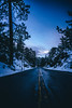 winter roads (Art by 2wenty) Tags: 2wenty winter snow road night midnight mood moody stars