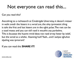 Not everyone can read this.