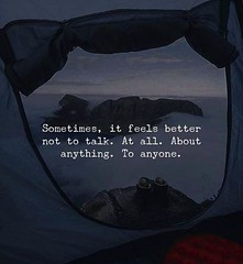 Sometimes, it feels better not to talk.. http://ift.tt/2mPAHTN (KTQ6WI5MLYNVZB4XQNFUWMLZFC) Tags: quotes love christmas life motivational