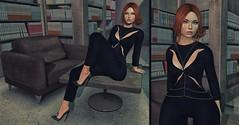 ♚ Look #358 ♚ (Caity Saint) Tags: kenny kr jumpsuit event ultra truth redhead catwa maitreya backdrop sl secondlife pixels