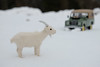 ENCOUNTER IN THE SNOW DESERT II (LitterART) Tags: goat magic white fairytale landrover series landroverseries winter offroad schnee snow austria
