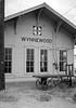 Wynnewood, Oklahoma (PDX Bailey) Tags: oklahoma wynnewood black white train station 1970s 70s analog jackfx