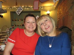 Clare Kavanagh and Pippy Woodley The Mad Hatters Tea Party Kavanagh's Tea Room Alice in Wonderland Afternoon Tea Church Passage Oakham Rutland (@oakhamuk) Tags: themadhatters teaparty kavanaghstearoom aliceinwonderland afternoontea churchpassage oakham rutland martinbrookes
