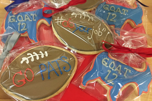 Patriots Football Cookies