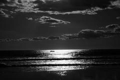 Pesca al atardecer (ameliapardo) Tags: pesca mar atardecer playa nubes cielo blancoynegro fujixt1 bolonia cadiz andalucia españa airelibre