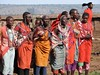 Colours of Africa (-Walt-) Tags: tribe colourful groups people africa village kenya red fashion maasai