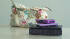 Shades of purple collection ... 047/365 (judith511) Tags: handbag purse notebook cardholder 2018onephotoeachday