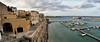 Panoramica sui bastioni di Otranto (diegozizzari) Tags: otranto mare onde cielo colori panorama barca città bastioni lecce salento