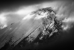 Giewont B&W (lucassoltys) Tags: mountains winter snow clouds tatra landscape cold sun giewont