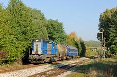 Hasič by Nikolaj Šeršeň - LTE 740.883 s požiarnym vlakom zo Starej turej na Myjavu čaká v stanici Poriadie na odhlášku
