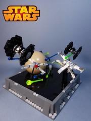 Star wars Dogfight (SephiMoCff7) Tags: lego star wars moc space battle tie fighter xwing x wing planet georges lucas john williams darth vader skywalker obi wan kenobi yoda force mini scale nano luke jedi leia han solo