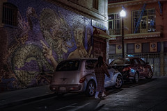Flip flops (karinavera) Tags: city night photography urban ilcea7m2 people sanfrancisco street