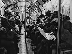 busy underground || London, United Kingdom (thatvaleria) Tags: light lighr emotion blackandwhite bnw new culture people busy underground regnounito inghilterra england unitedkingdom londra london