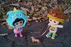 """Boo!!!"" :( (cute-little-dolls) Tags: muichan minimuichan doll toy monster rollerskates dog park winter japan friends"
