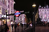 Piccadilly Circus station at night (Canadian Pacific) Tags: england english unitedkingdom britain british great regentstreet night photo shot image building architecture 2016aimg1926 underground tube piccadillycircus station