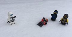 Snowball fight (Tanerine25) Tags: zane jay cole kai ninjago lego