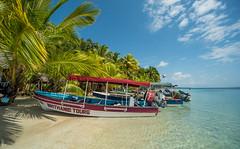 Seesternstrand auf Bocas del Toro (matthias_oberlausitz) Tags: seesternstrand bocas del toro panama karibik palmen boote mittelamerika centroamerica
