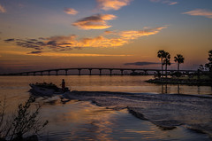 Crabber leaving the marina (Tedj1939) Tags: sunrise nature seascapes sun morning dawn clouds sky river indianriver