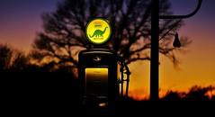 Night Pump (Tim @ Photovisions) Tags: nebraska pump gas gaspump night sinclair dino gasoline