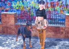 Livin' In The Gangsta's Paradise (Cherry Inventor) Tags: foxy catwa letre maitreya moda kraftwork foxcity pocketgacha secondlife blog fashion 3d