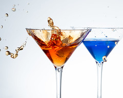 "Cocktails? (janemetcalfe13) Tags: drinks glasses splash blue orange ""crazytuesdaytheme 7dwf"