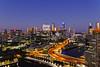Melbourne Dusk Skyline (I Prahin | www.southeastasia-images.com) Tags: melbourne victoria australia skyline cityscape night skyscrapers canon6d bridge docklands yarrariver apartments cbd city lighttrails sunset travel panorama