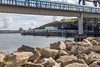 Passenger Foot Bridge - Port of Douglas, Isle of Man (staneastwood) Tags: douglas isleofman im staneastwood stanleyeastwood sea water ocean building architecture cloud sky bridge harbour bay
