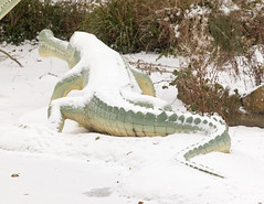 Teleosaurus | CP Snow | Feb 2018-61 (Paul Dykes) Tags: crystalpalace uksnow londonsnow london england uk gb unitedkingdom crystalpalacepark