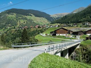 RHE108 Mutschnengia Road Bridge over the Medelser Rhein River, Curaglia / Medel, Grisons, Switzerland