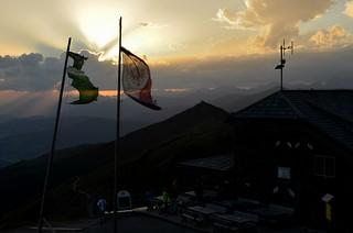 Sunset at the Sillianer Hütte