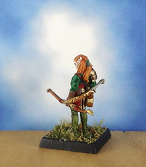 Female-Elf-Ranger-Archer-Reaper-Miniature-05 (Dead Bard Miniatures) Tags: dd dungeons dragons reaper ralpartha grenadier warhammer wotc chainmail pathfinder painted miniature mini