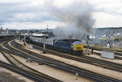 Plymouth UK  |  1976 (keithwilde152) Tags: br class52 westerns thousands plymouth devon uk north road station platforms tracks city passenger train diesel locomotives outdoor summer