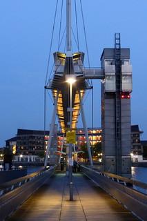 Fußgängerbrücke über das Royal Victoria Dock